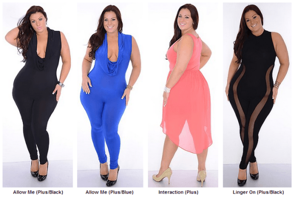 Plus Size Club Wear For Young Women Black Blue And Pink