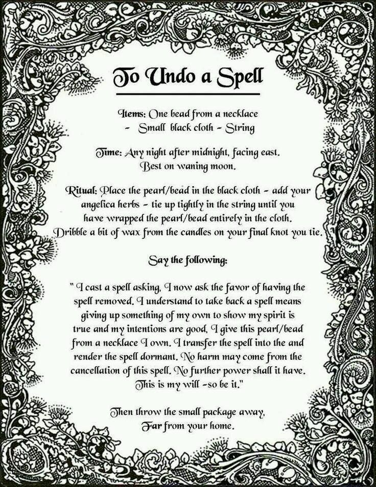 To Undo A Spell Spell Magick The Pagan Path Pinterest Magick