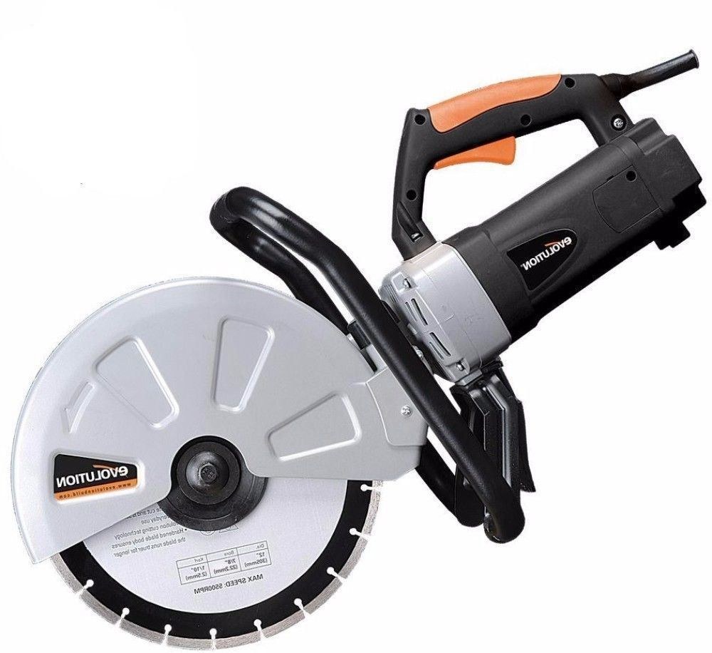 15 Amp 12 In Corded Portable Concrete Disc Cutter Saw With Diamond Blade Saw Construction Tools Disc Cutter Power Tools