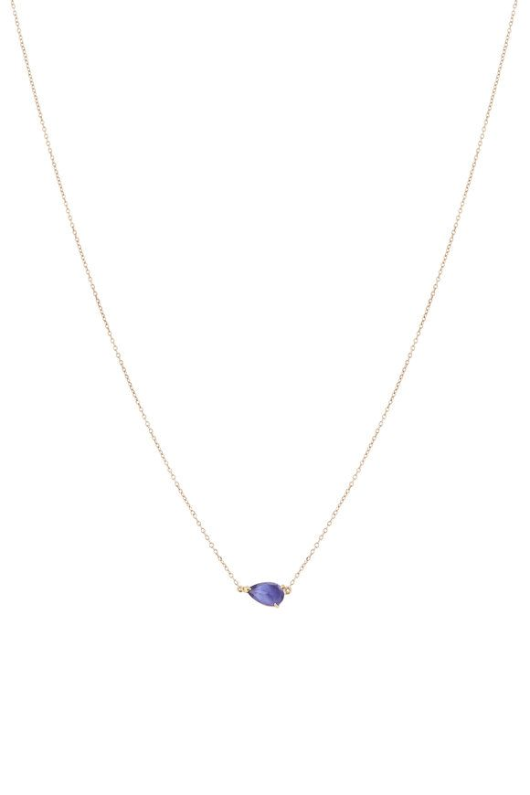 Emily Ashley 14K Yellow Gold Tanzanite Necklace Santa Necklace