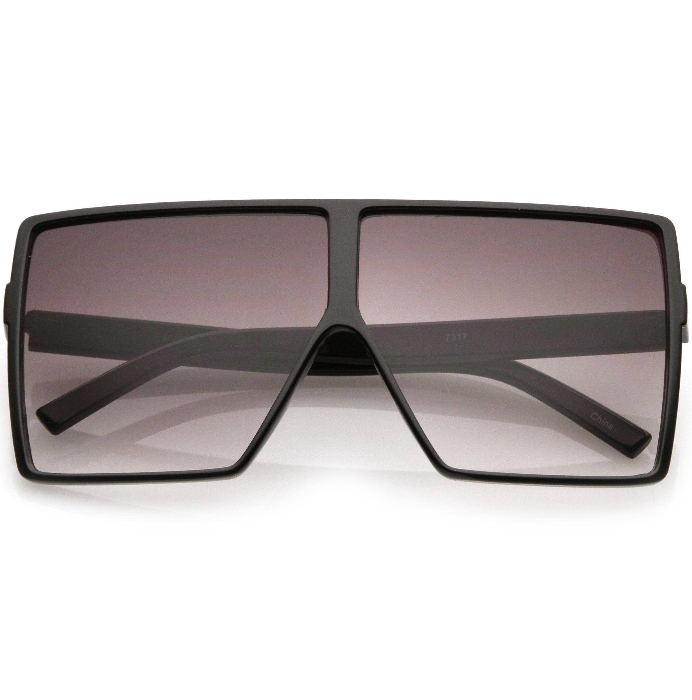 bd4391fb4 Oversize Retro Modern Futuristic Square Aviator Sunglasses C475 ...