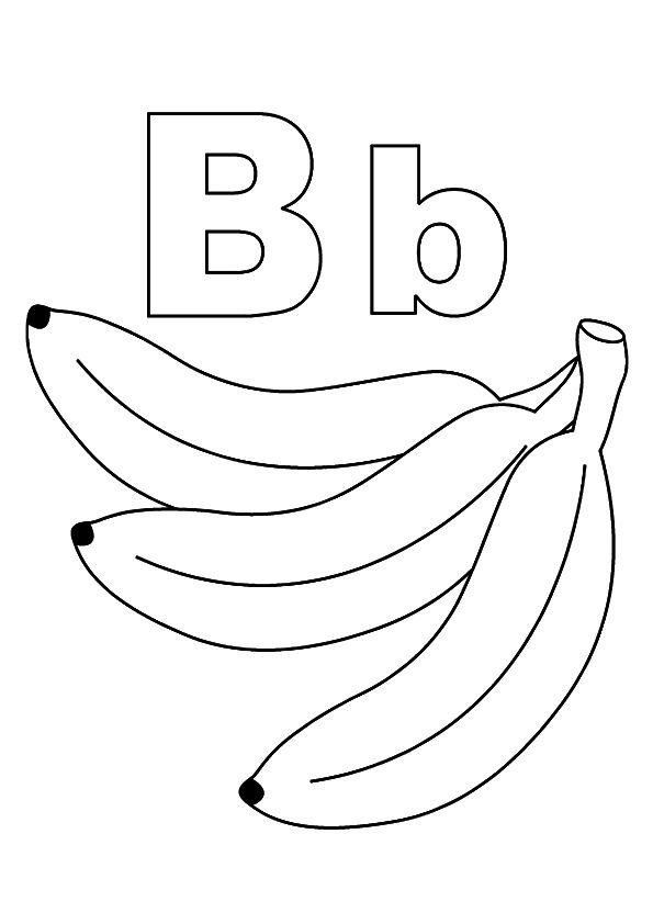 top 10 letter b coloring pages your toddler will love to learn color lette b alphabet. Black Bedroom Furniture Sets. Home Design Ideas
