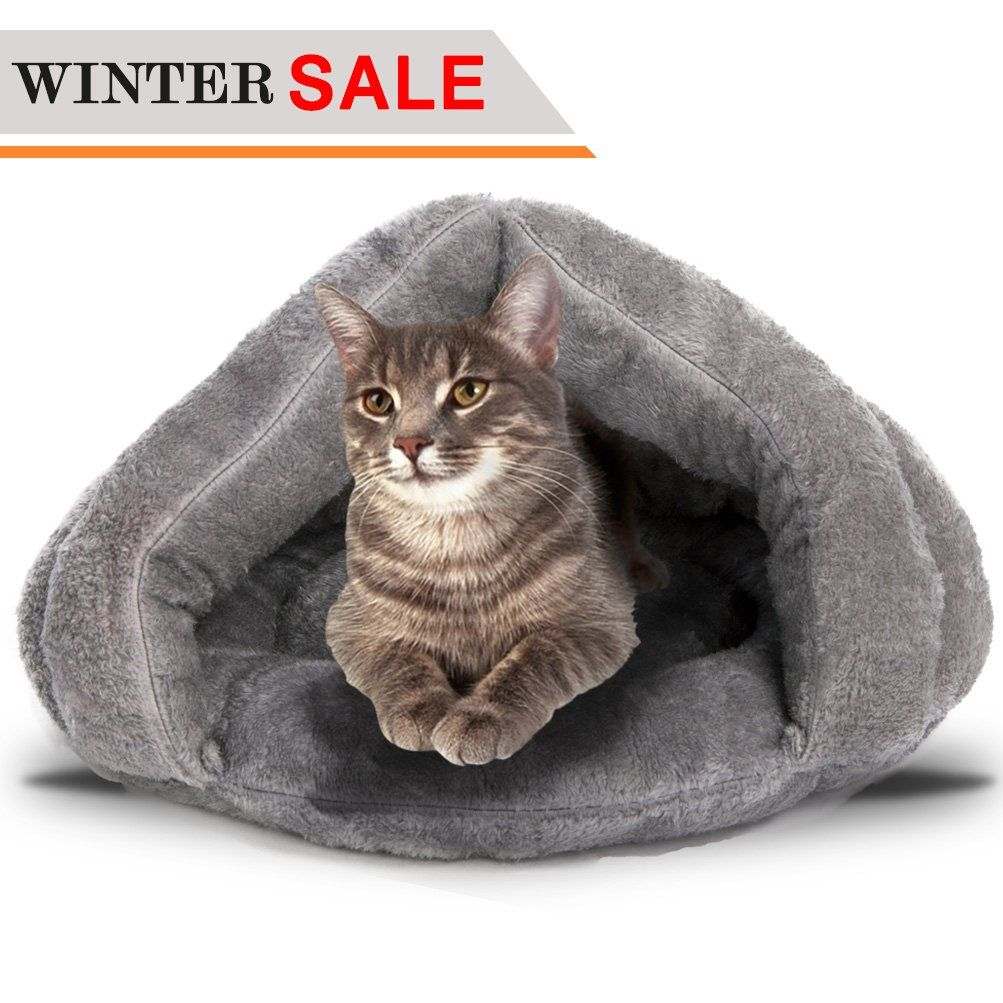 Soft Fleece SelfWarming Cat Bed Warm Sleeping Bed for Cats
