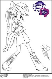 Mlp Equestria Girl Rainbow Dash Coloring Pictures My Little Pony Coloring Coloring Pages For Girls Coloring Pages