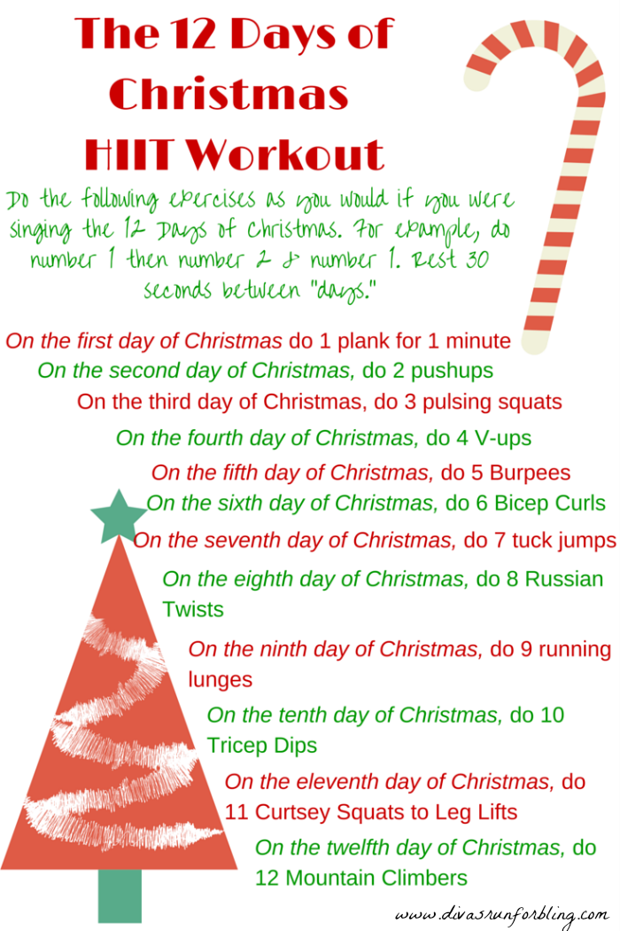 Divas Run For Bling Running And Fitness Blog Fit And Healthy Lifestyle Christmas Workout Holiday Workout Hiit Workout