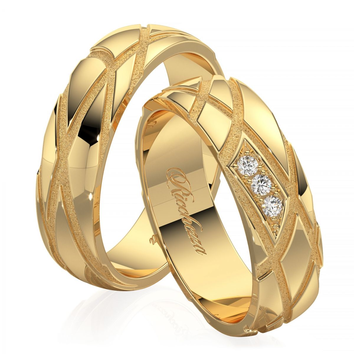 Обручальные кольца ERS8 — Ricchezza — ювелирные изделия   J ... 8e9b5a61b09