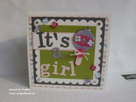 Zur Geburt, Babykarte, Stampin Up 001