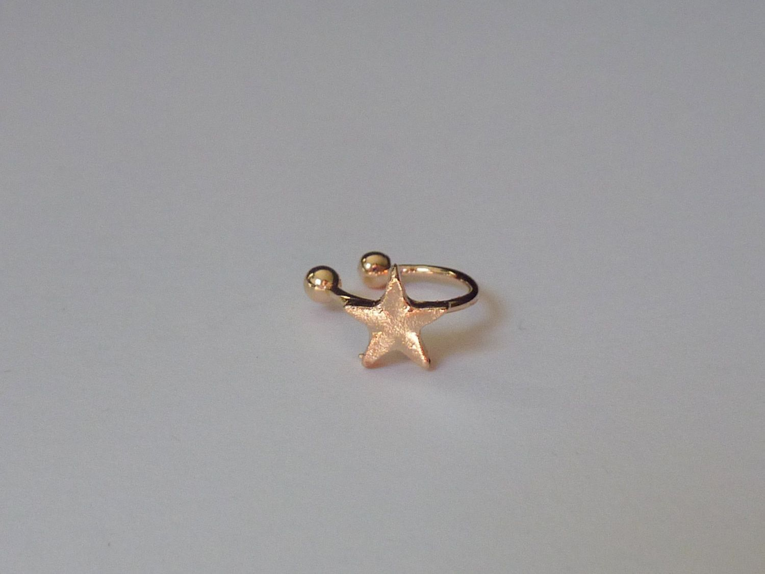 Nose accessories without piercing  No piercing gold ear cuff star ear cuff fake nose ring fake
