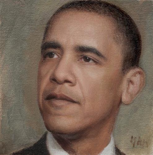 Obama - Original Fine Art for Sale - © by Yuehua He