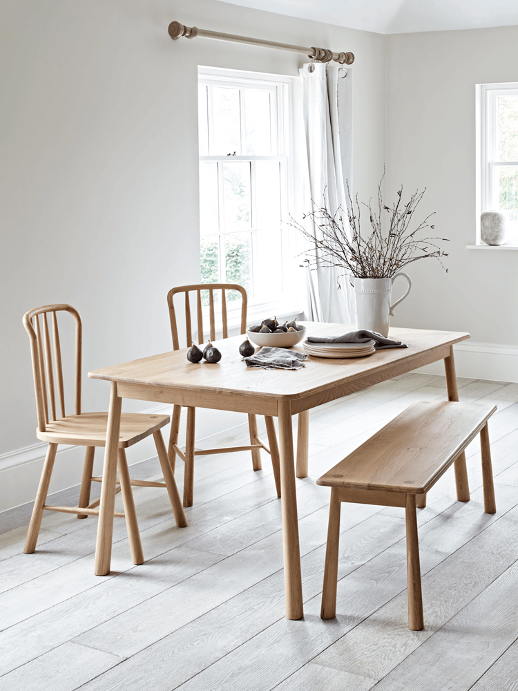 Made From Real Oak Our Simple Scandinavian Style Dining