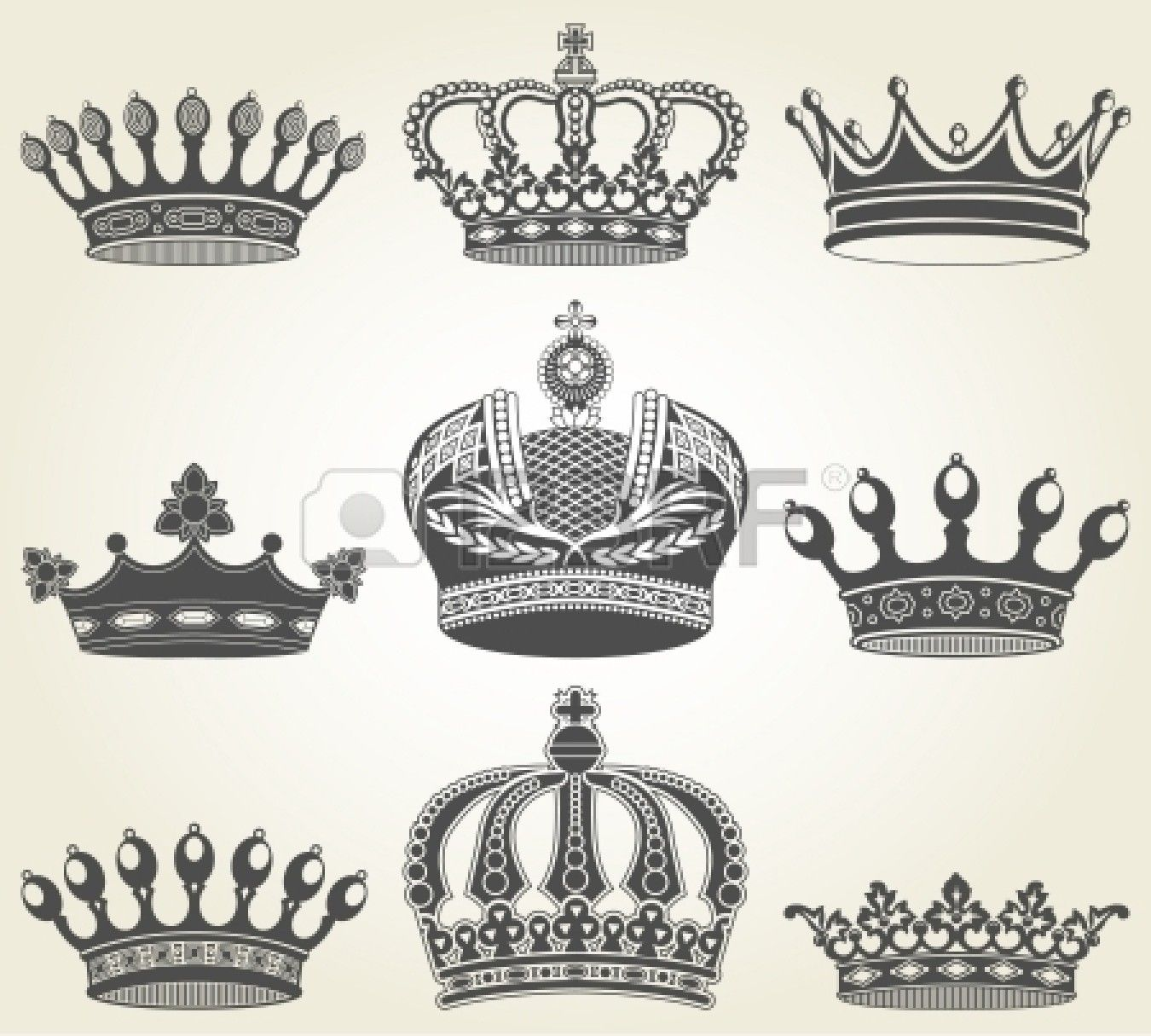 the image set crowns in vintage style graphic design pinterest kronen tattoos tattoo. Black Bedroom Furniture Sets. Home Design Ideas