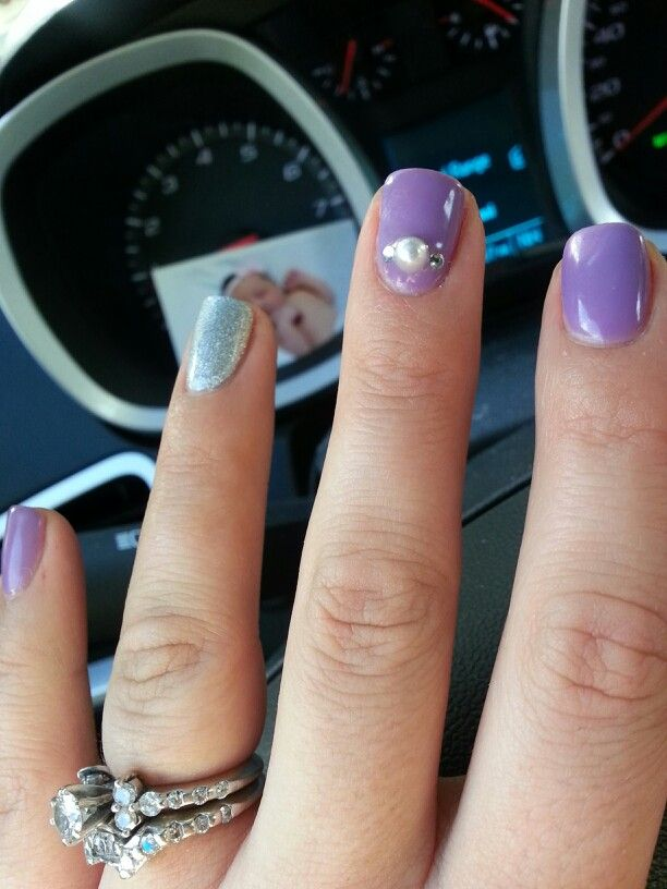 Sofia The First Inspired Nails