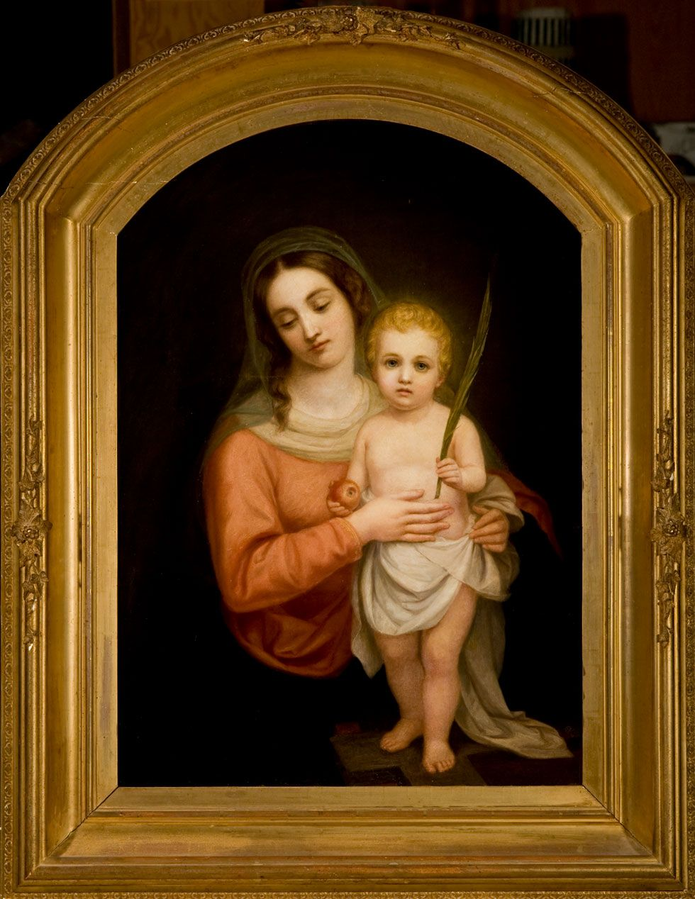 Madonna And Child C 1880 Oil On Canvas Johannes Adam Simon Oertel German American 1823 1909 Gif Madonna And Child Botticelli Paintings Watercolor Canvas