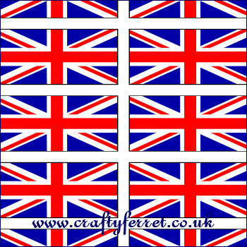 Free Printable Red White Blue Union Jack Flags Craft Backing