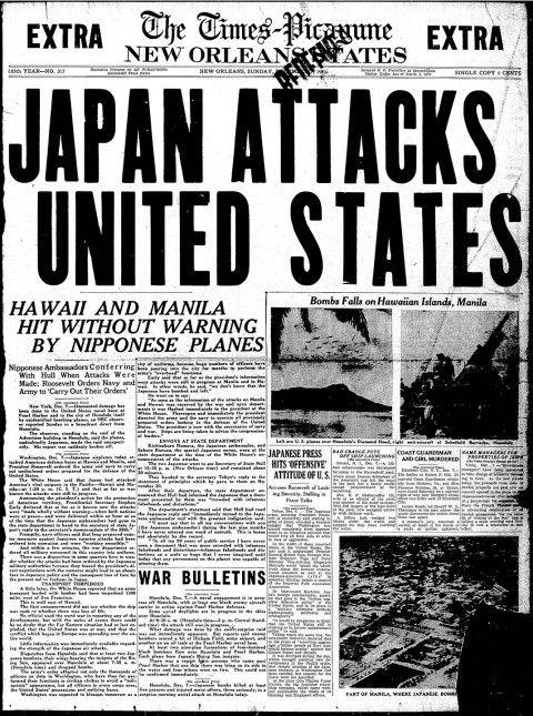 Pearl Harbor 1941 Japan Attacks United States Pearl Harbor Remember Pearl Harbor Historical Newspaper