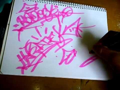 Como hacer una tag o firma de graffiti  Graffitis  Pinterest