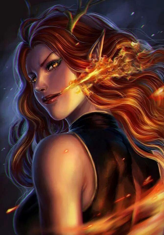 Fantasy Art Fire Elf