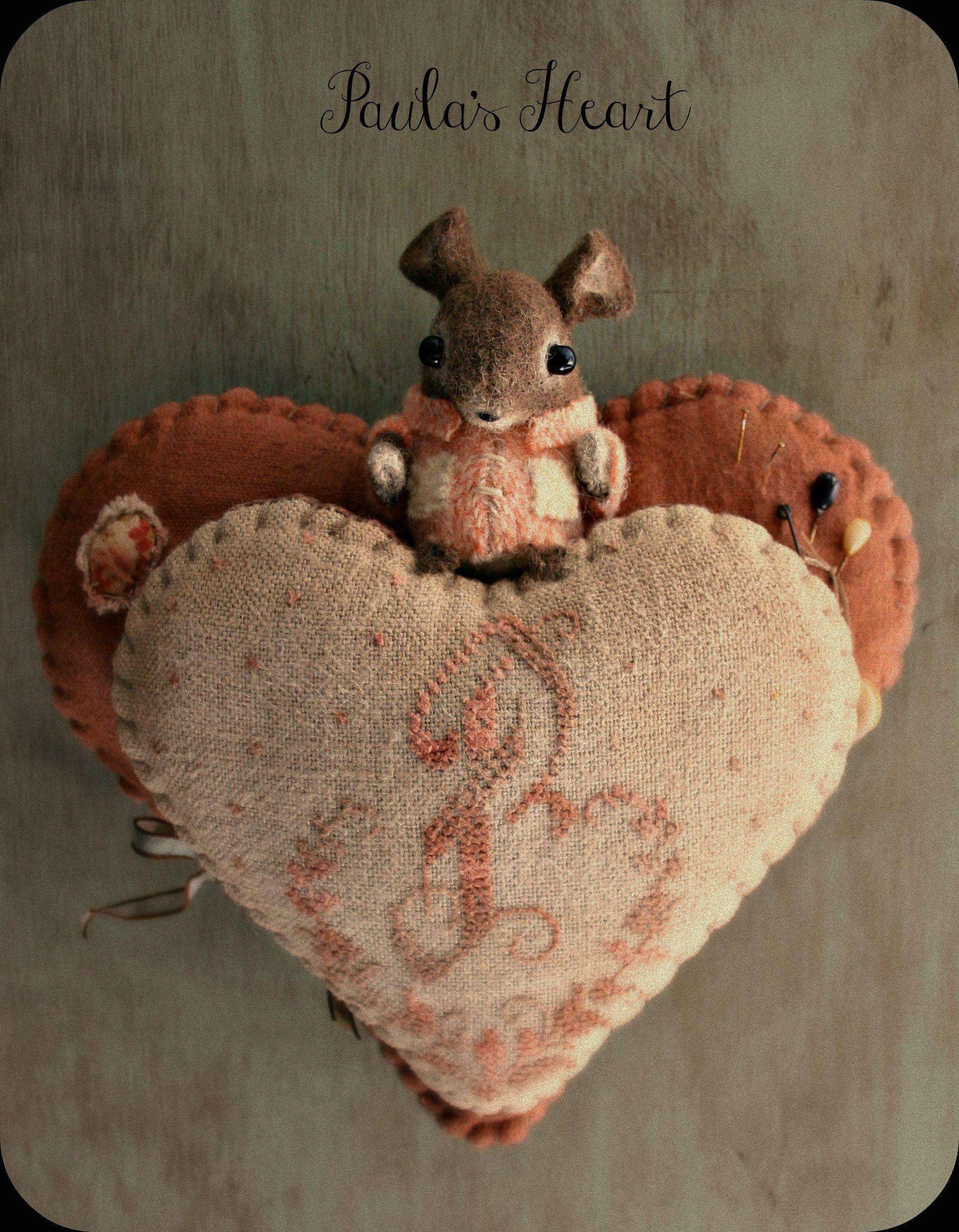 Paula's Heart Hanging Pin-Keep