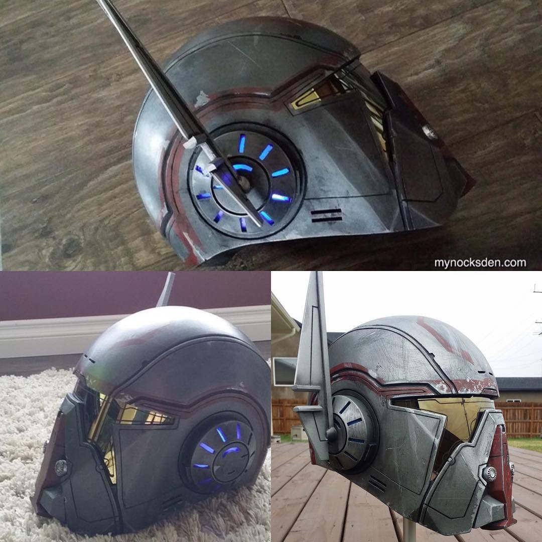 "832 Likes, 10 Comments - Mynock's Den (@mynocksden) on Instagram: ""Some examples of my SWTOR Shae Vizla Helmets. Working on completing another one as we speak. Love…"""