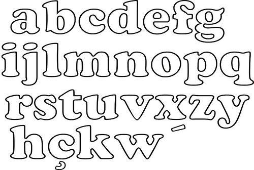 Moldes de letras minusculas para colorear   Imagui | abcdarios