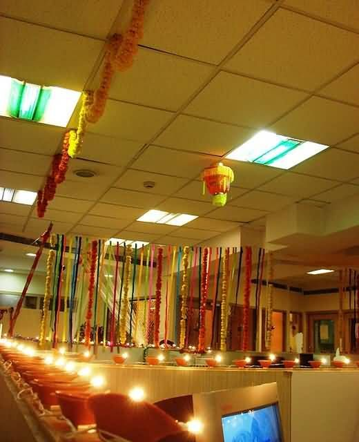 Diwali office decoration ideas #diwalidecorationsathome ...
