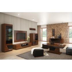 Photo of Living room complete – Set A Postira, 11 pieces, partially solid, color: walnut / black Steinersteiner – bingefashion.com/dekor