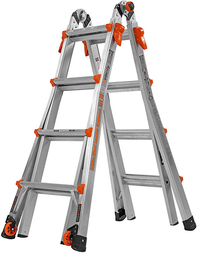 Little Giant 17 Foot Velocity Multi Use Ladder 300 Pound Duty Rating 15417 001 Telescoping Ladders Amazon In 2020 Ladder Chair Multi Purpose Ladder Little Giants