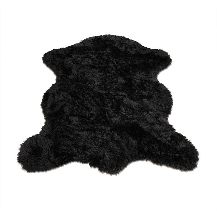 Black Bear Faux Fur Pelt Rug
