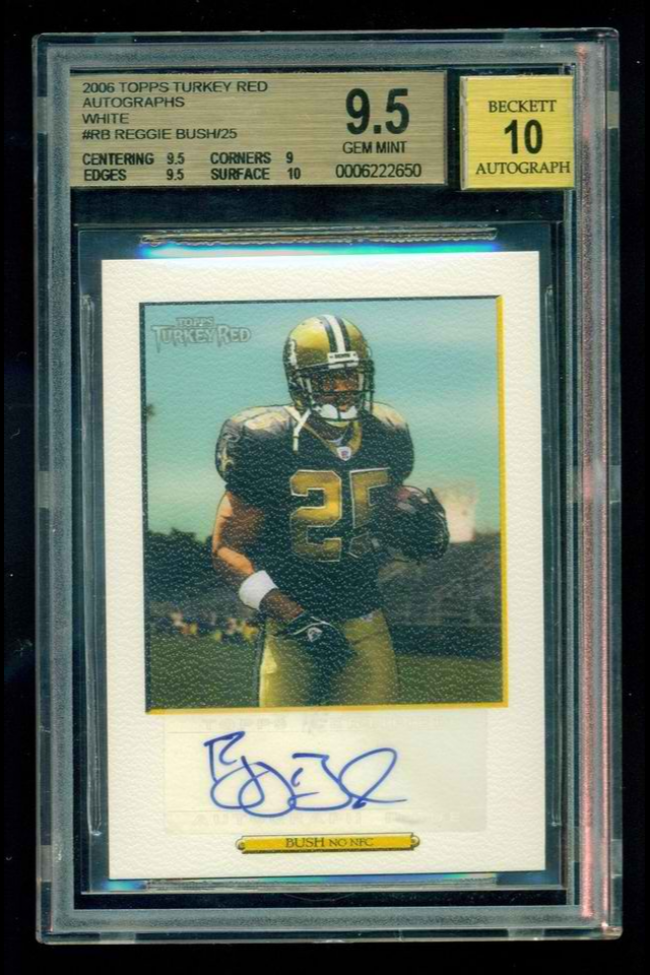 2006 Topps Turkey Red Autographs White/25 BGS 9.5/10  Reggie Bush