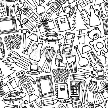 Vector Cartoon Texture Of Differents Objects