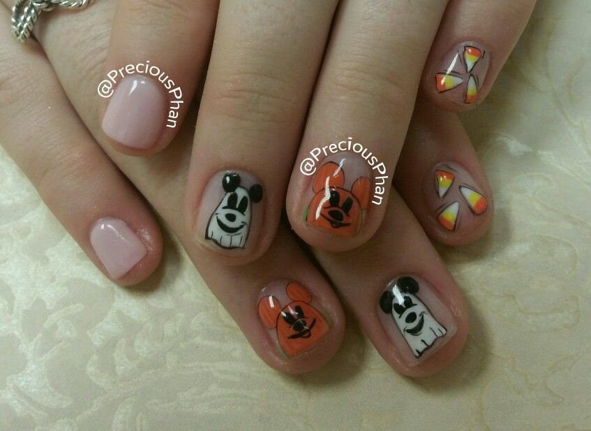 Disneyland nails. Halloween nails. Minnie mouse and mickey ...