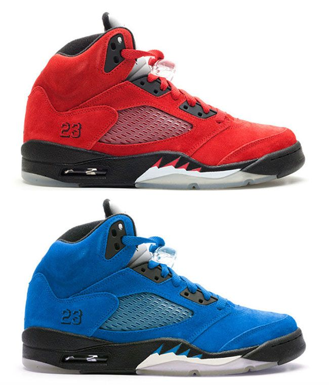 Air Jordan 5 Red Blue Suede  7e5f218b2