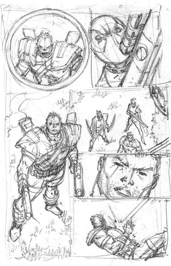 deadpool x force pt 2 rob liefeld does great work even his layout sketches are impressive