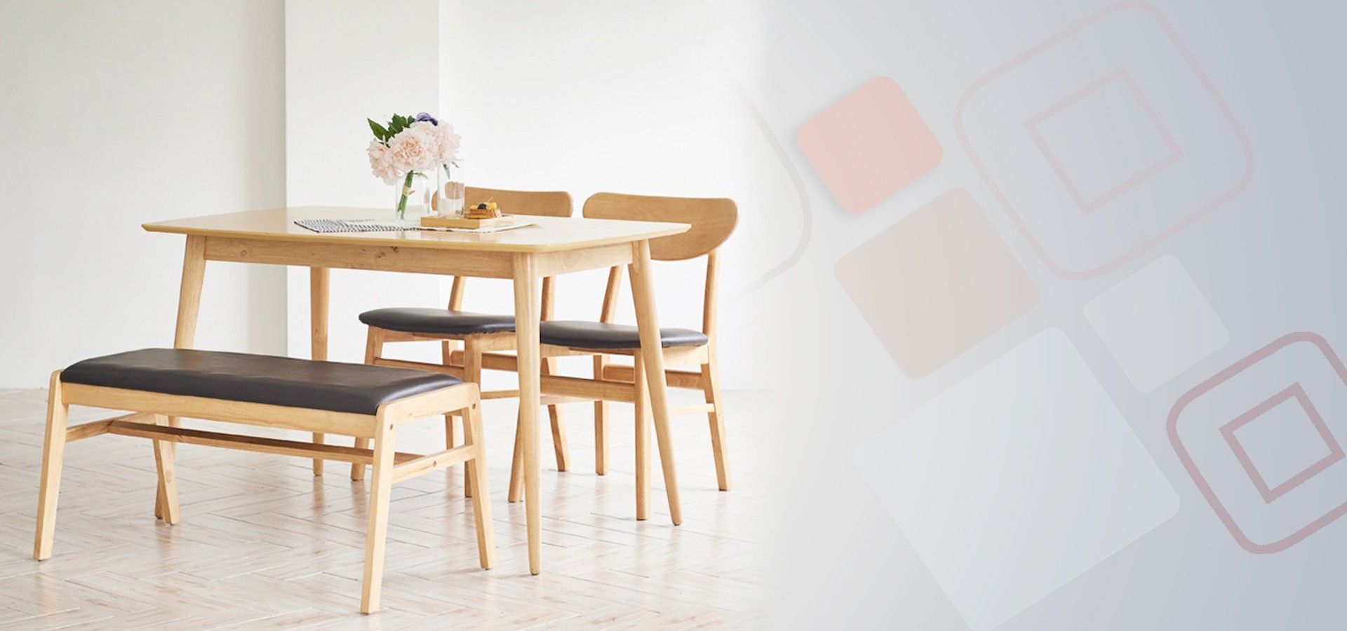 Benise Scandinavian Compact 4 Seater Dining Set A 1200 Table 2 Chairs 1 Bench Kitchen Table Glass Kitchen Tables Kitchen Table Settings