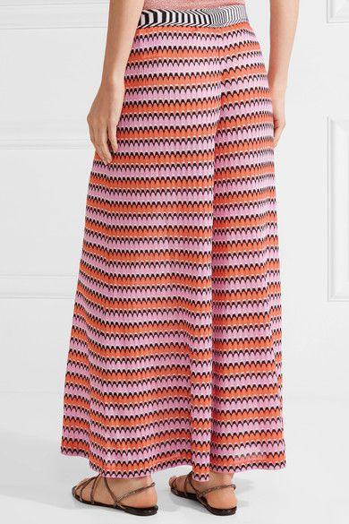 1f43276f62dc3 Missoni - Mare Cropped Crochet-knit Wide-leg Pants - Pink