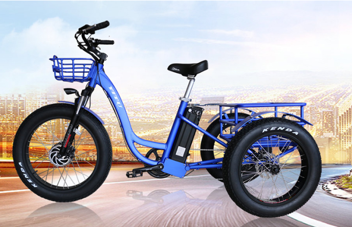 f4a84e9c0da 48v 500w front drive 3 three wheel fat tire cargo electric tricycle ...