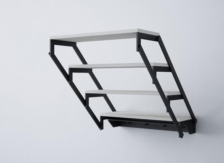 Table Turns Into A Shelf Transforming Furniture Table Shelf Mebel Iz Stali Stol Polka Metallicheskaya Mebel