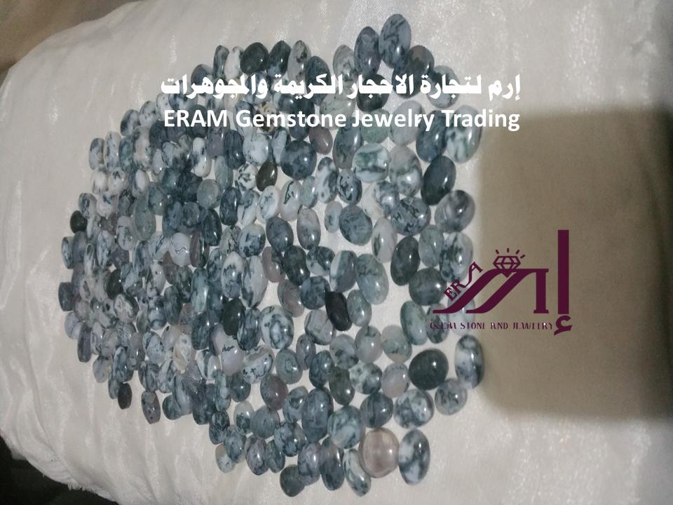 العقيق اليمني الطحلبي الطبيعي الاصلي 100 Agate Hanukkah Wreath Gemstone Jewelry Gemstones
