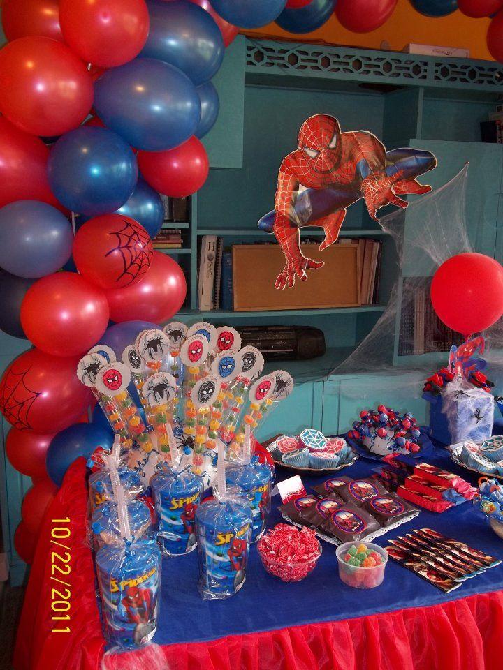 Ambientacion tematica spiderman decoraciones para - Decoracion fiesta de cumpleanos infantil ...