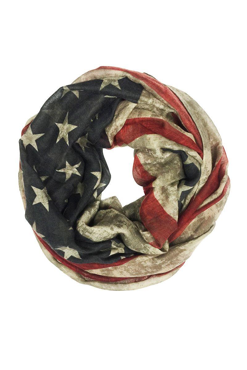 Infinity American Flag Scarve American Flag Scarf Infinity Scarf Flag Scarf
