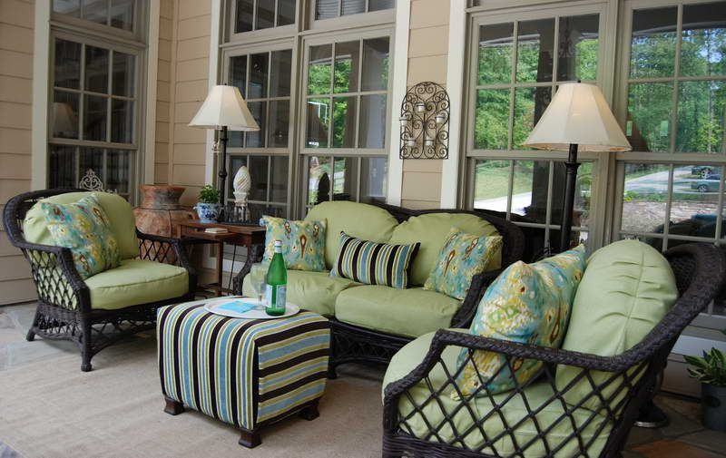 Front Porch Furniture With Decorative Lighting More