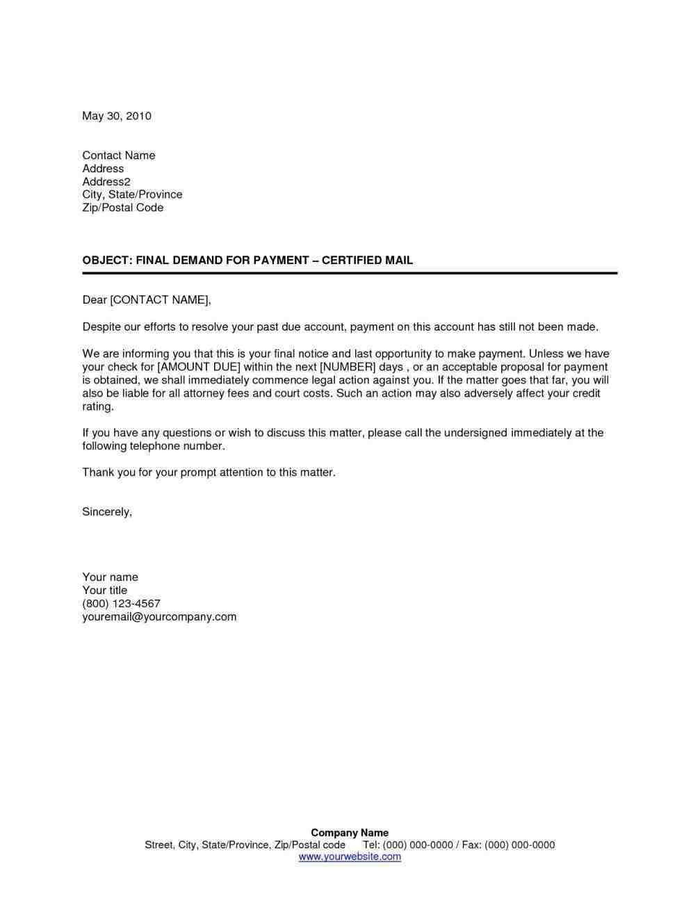 sample collection letter collection collections notice template notice template 3399