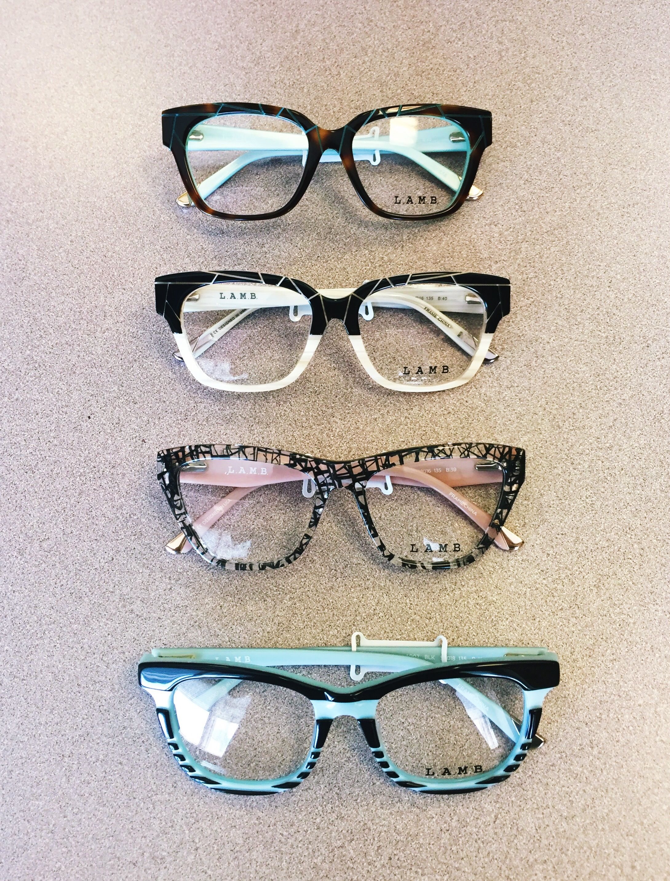 e1f6508852 Look at these new L.A.M.B. By Gwen Stefani frames we just received! Stop by  and purchase a pair today
