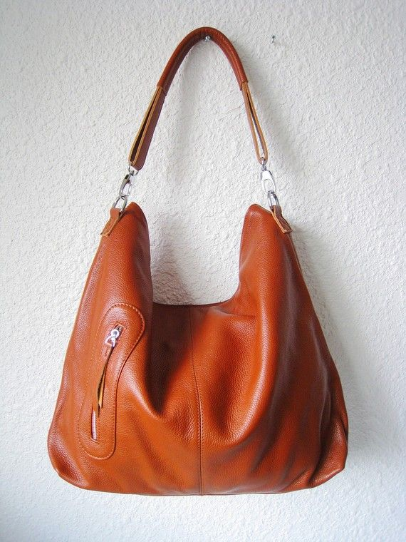 Leather hobo Max medium brown---Adeleshop handmade Leather bag ...