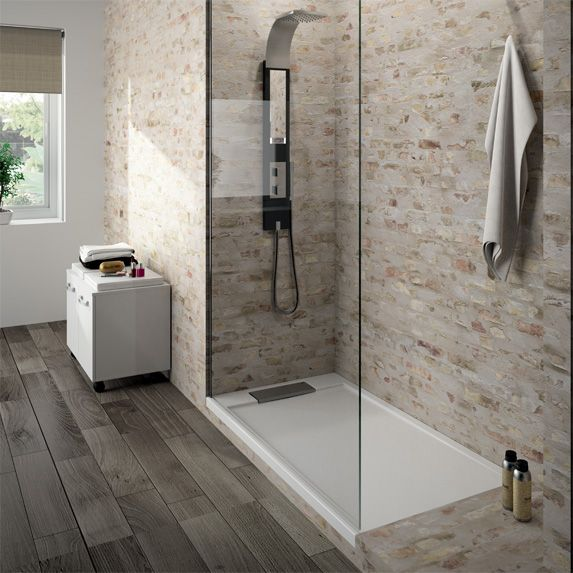 Receveur de douche l 39 italienne extra plat bac douche ultra plat aquarine home for Photos de douche italienne