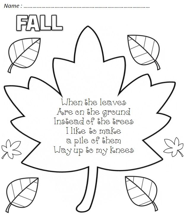 Pin by Angela Brum on Daycare Fall preschool, Kindergarten, Poems
