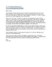 how to ask your professor for a letter of recommendation via email with sample