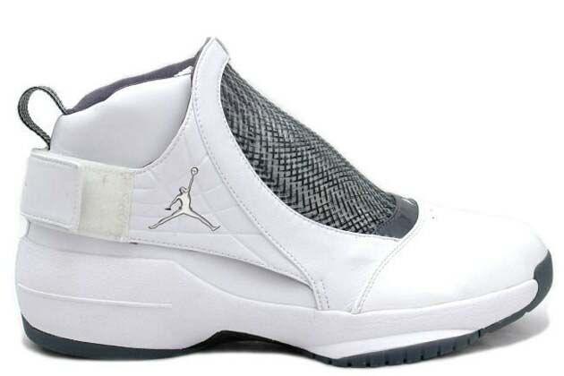 air jordan 19 original (og) white chrome flint grey black shoes