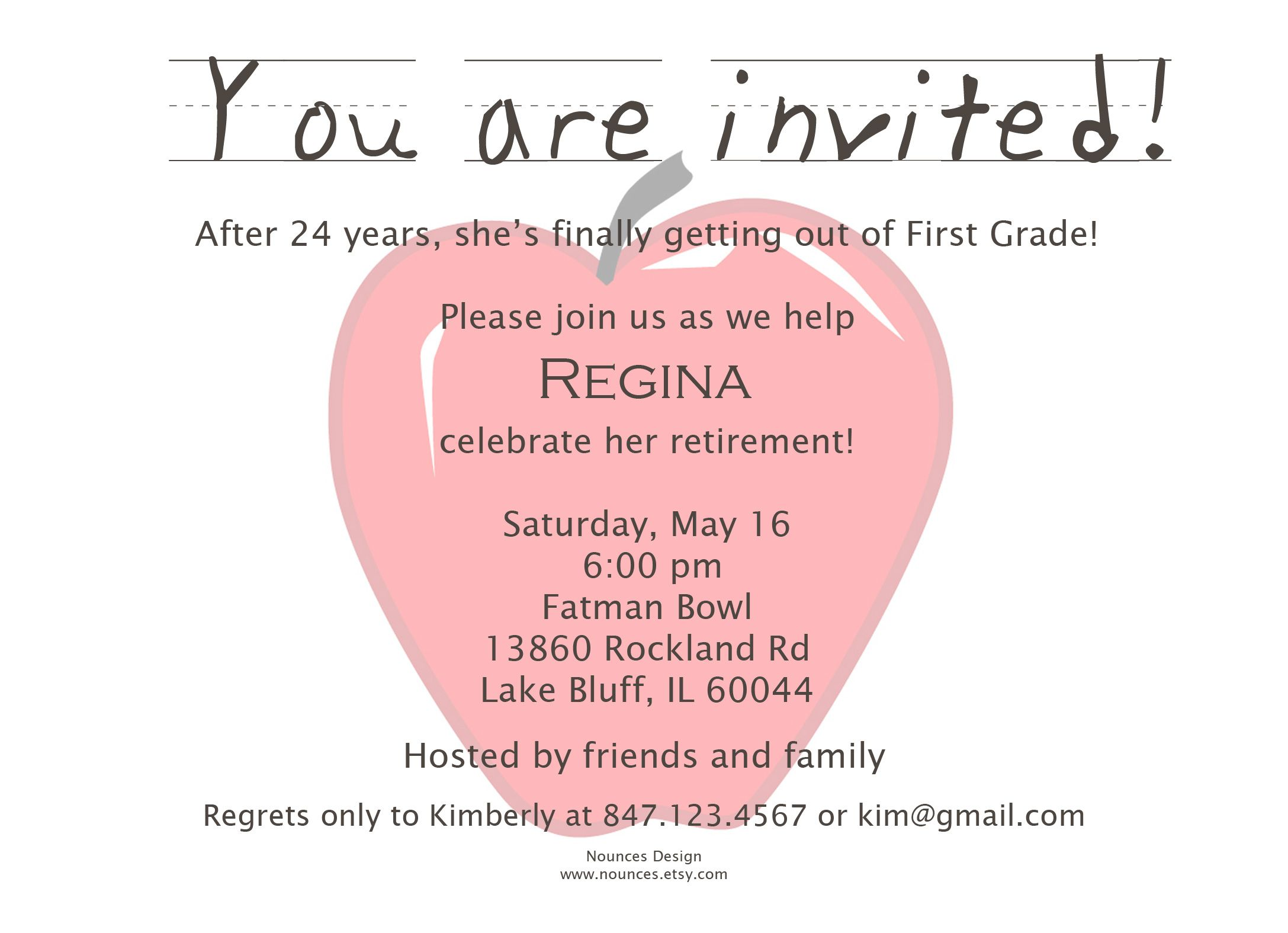 Retirement Party Invitation Cute Wording Might Need To See - Class party invitation template