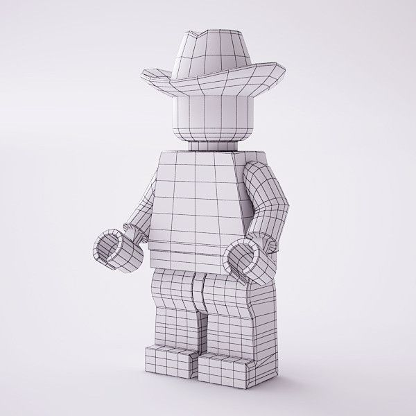 3d model rigged lego minifig - Rigged LEGO Minifigure... by mali222 ...